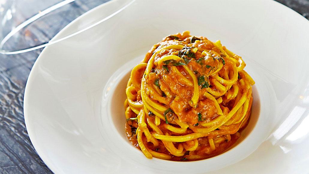Spaghetti with Tomato & Basil at Scarpetta
