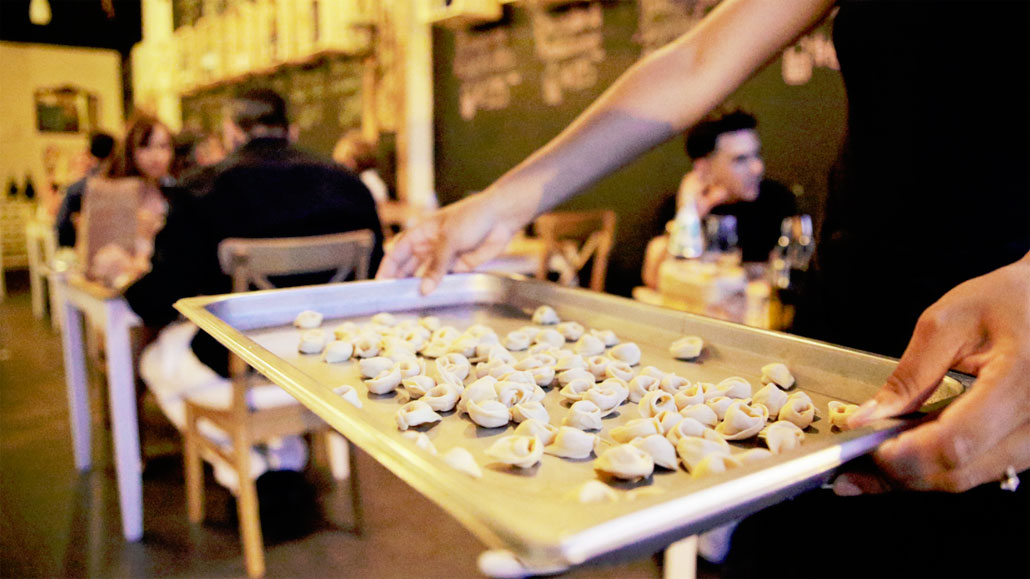 Hand crafted tortellini at Via Emilia 9