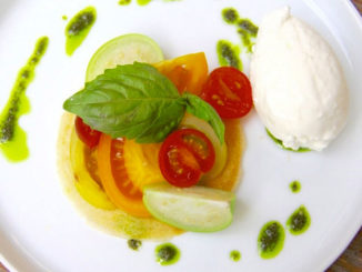 Heirloom Tomato & Burratina at Villa Azur, South Beach